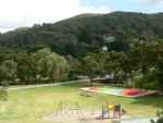 BIG4 Wye River Tourist Park, Playground With Giant Jumping Pillow! Fun For The Kids!