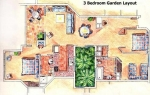 Paros on the Beach 3 Bedroom Layout