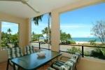 Entertainer balcony overlooking ocean and beach