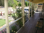 Great outlook from the verandah & private decked patio