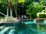Tropical pool and gardens