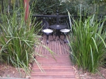 Garden Deck outside entry to both Attic & Tudor Suites