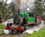 Nearby Puffing Billy Steam Train