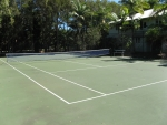 Coral Beach Noosa Resort provides a full size Tennis Court