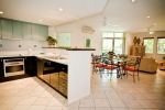 spacious kitchen, dining & lounge
