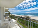 Large beachfront balconies with expansive views