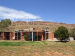 Hotel Front with MacDonnell Ranges backdrop