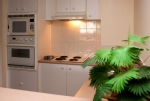 Fully equipped kitchen with microwave, dishwasher and large fridge