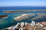 Aerial Views of the broadwater & Champelli Palms