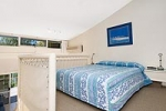 Queen Bed on a Mezzanine level + Double Sofa Lounge (Fees apply to use Sofa)