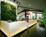 Vertical Gardens compliment the open plan reception and lounge bar at Kewarra Beach Resort