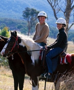 Horse-riding in the nearby Kanimbla Valley