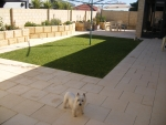Garden area with our Westies Logan & Caley