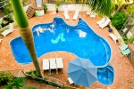 Take Timeout around our uniquely shaped Aussie Pool