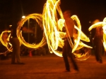 Enjoy the Fire Dancing at Mowbray Park Burleigh Heads