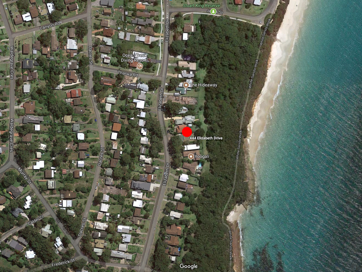 Nelsons Beach Cottage Location Jervis Bay