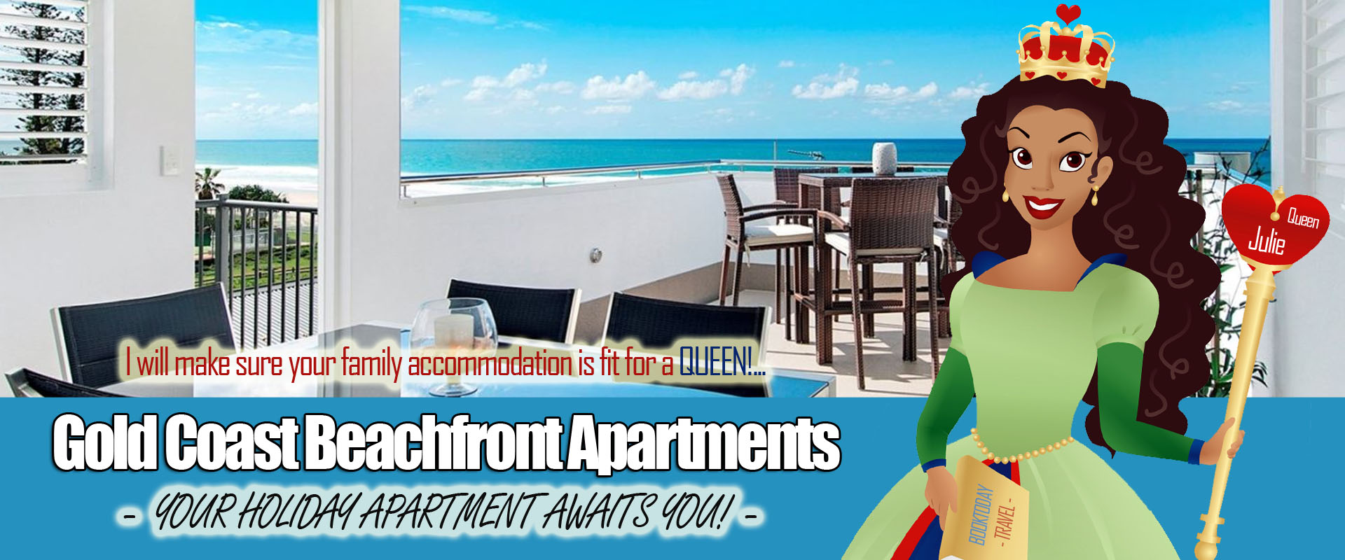 BookToday Gold Coast Accommodation Queens Beachfront Apartments